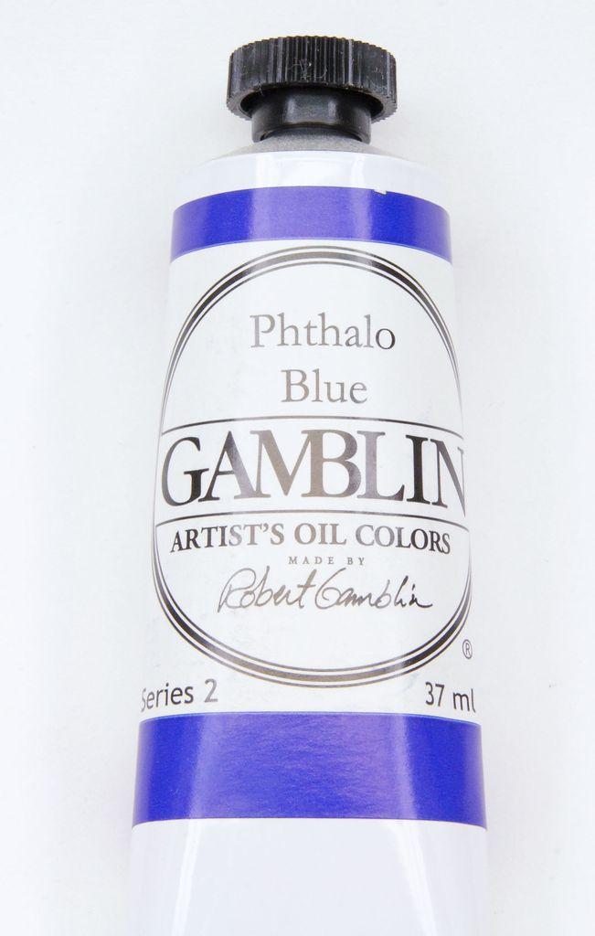 Domestic Gamblin Oil Paint, Phthalo Blue, Series 2, Tube 37ml<br /> List Price: 12.95
