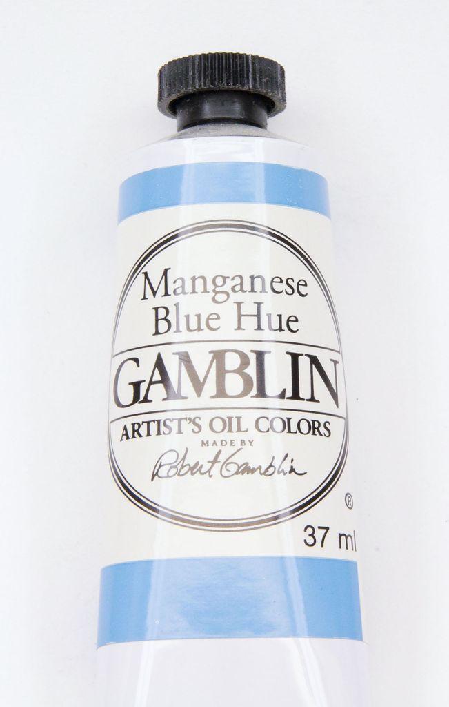 Domestic Gamblin Oil Paint, Manganese Blue Hue, Series 2, Tube 37ml<br /> List Price: 12.95
