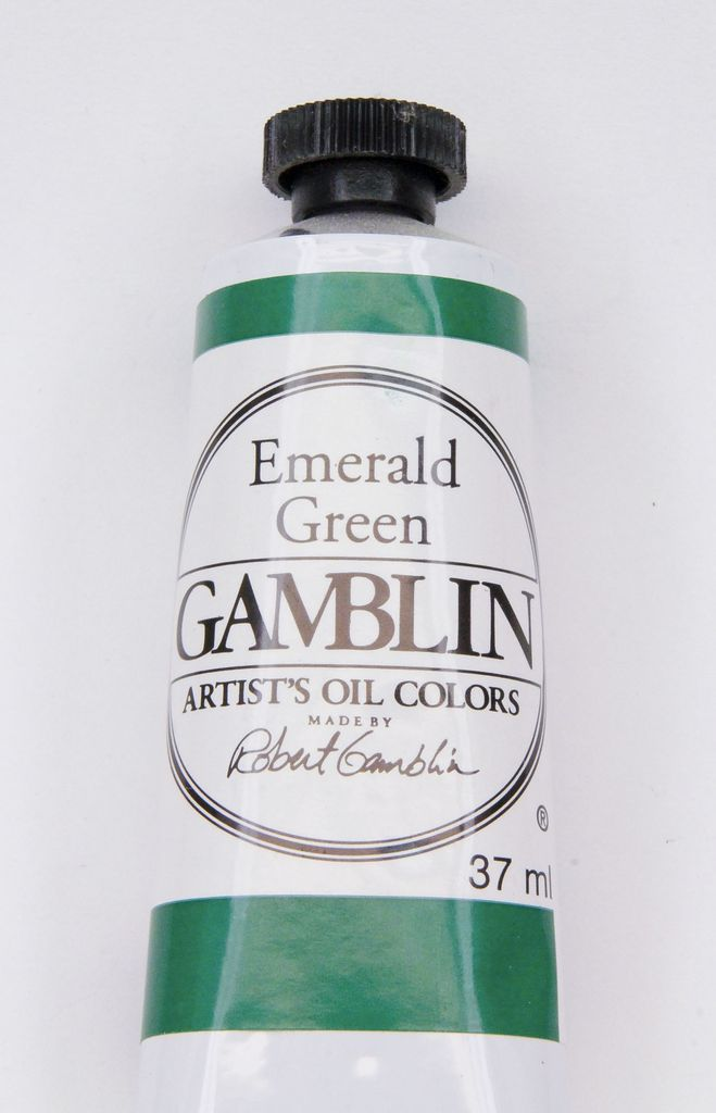 Domestic Gamblin Oil Paint, Emerald Green, Series 2, Tube 37ml<br /> List Price: 12.95