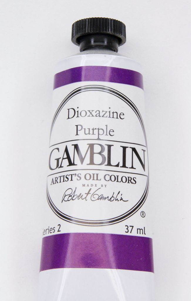 Domestic Gamblin Oil Paint, Dioxazine Purple, Series 2, Tube 37ml<br /> List Price: 12.95