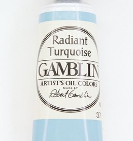 Domestic Gamblin Oil Paint, Radiant Turquoise, Series 2, Tube 37ml<br /> List Price: 12.95