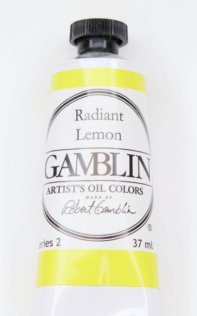 Domestic Gamblin Oil Paint, Radiant Lemon, Series 2, Tube 37ml<br /> List Price: 12.95