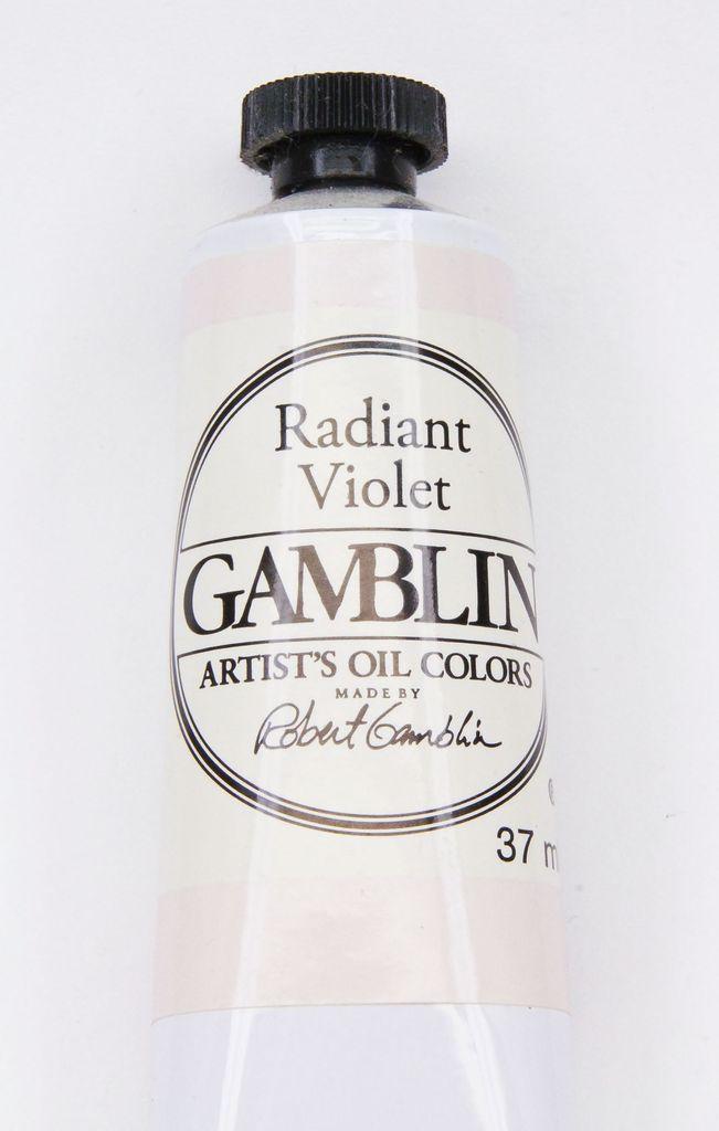 Domestic Gamblin Oil Paint, Radiant Violet, Series 2, Tube 37ml<br /> List Price: 12.95