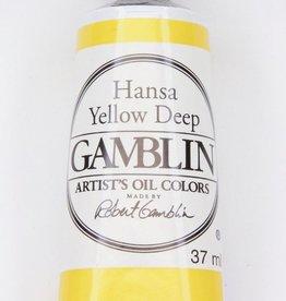 Domestic Gamblin Oil Paint, Hansa Yellow Deep, Series 3, Tube 37ml<br /> List Price: 17.95