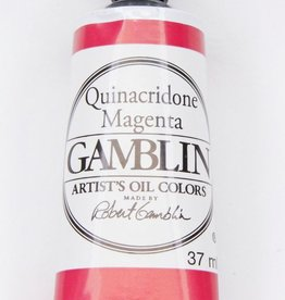 Domestic Gamblin Oil Paint, Quinacridone Magenta, Series 3, Tube 37ml<br /> List Price: 17.95