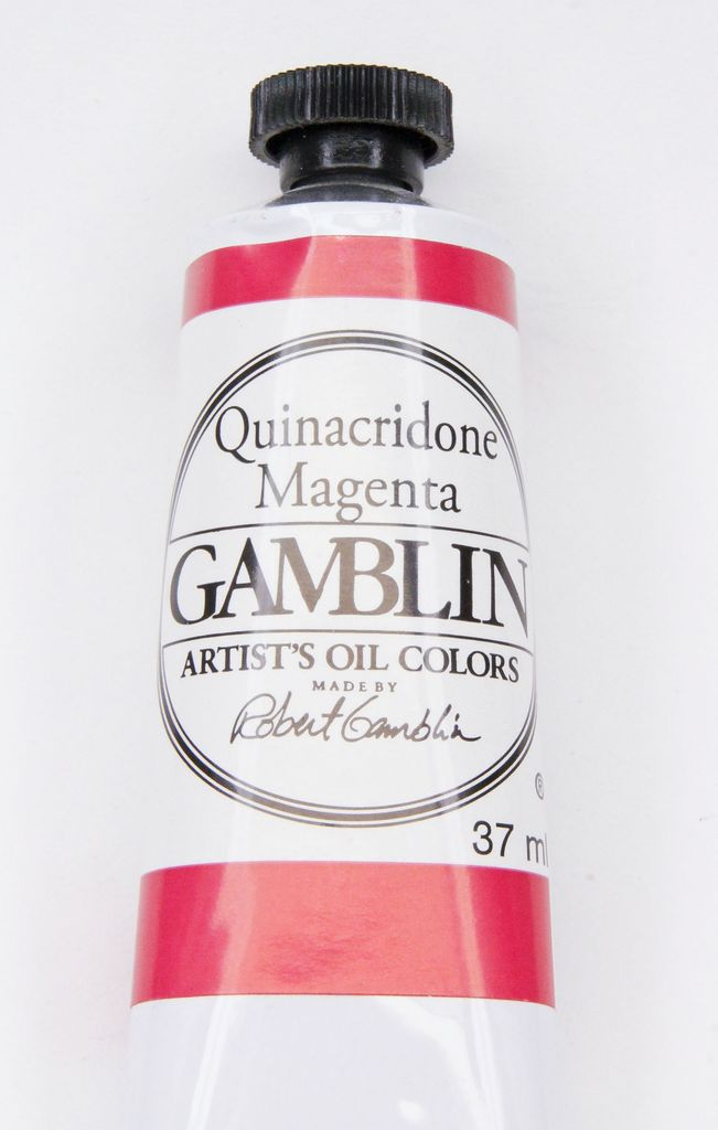 Domestic Gamblin Oil Paint, Quinacridone Magenta, Series 3, Tube 37ml<br /> List Price: 17.95