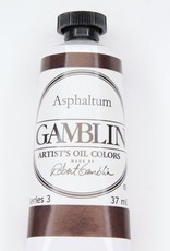Domestic Gamblin Oil Paint, Asphaltum, Series 3, Tube 37ml<br /> List Price: 17.95