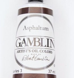 Domestic Gamblin Oil Paint, Asphaltum, Series 3, Tube 37ml<br /> List Price: 17.95