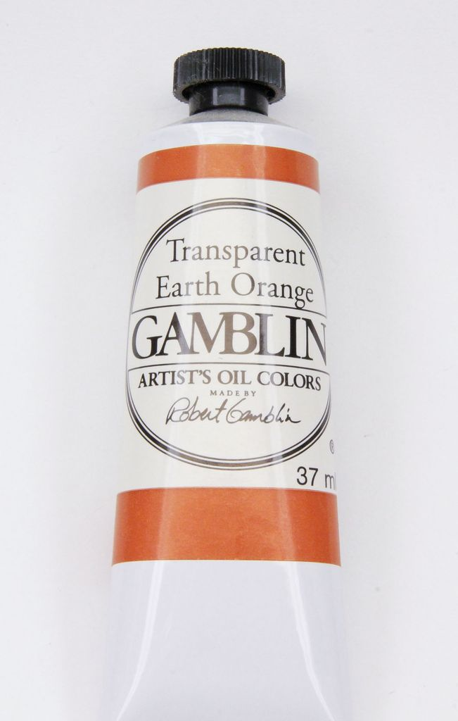 Domestic Gamblin Oil Paint, Transparent Earth Orange, Series 3, Tube 37ml<br /> List Price: 17.95