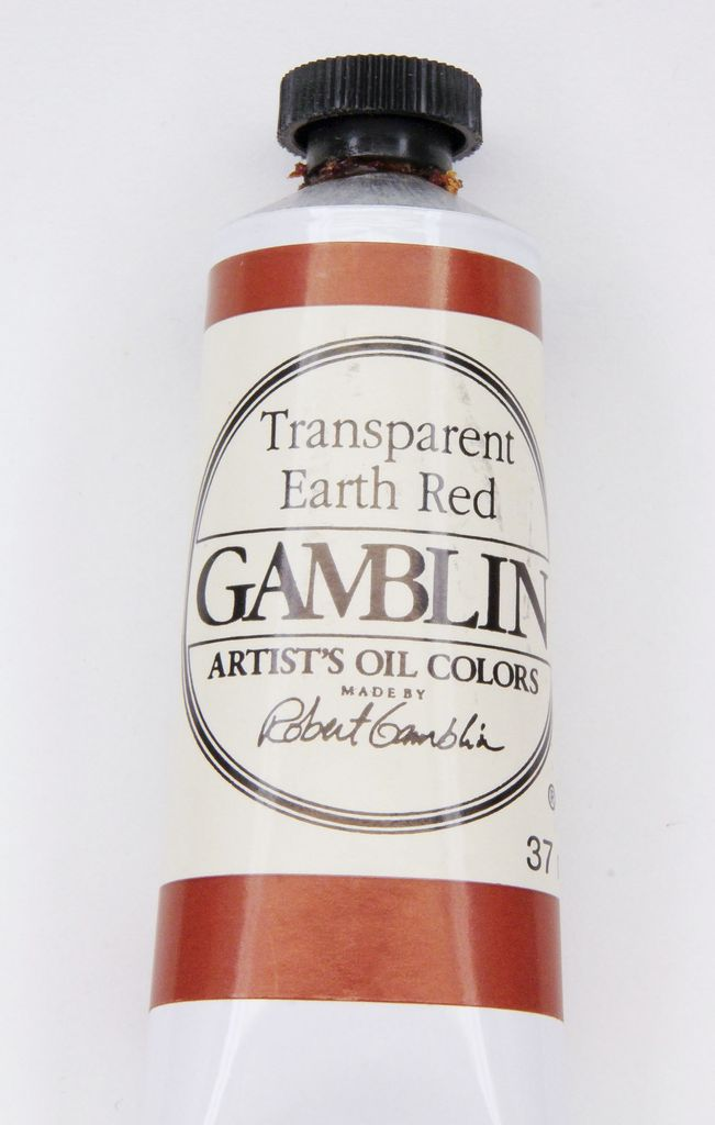 Domestic Gamblin Oil Paint, Transparent Earth Red, Series 3, Tube 37ml<br /> List Price: 17.95