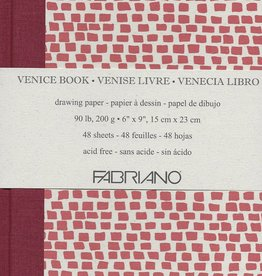 "Italy Fabriano, Venice Art Book, Drawing Paper, 90#/200gsm, 48 sheets, 6"" x 9"""