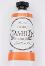 Domestic Gamblin Oil Paint, Mono Orange, Series 3, Tube 37ml<br /> List Price: 17.95