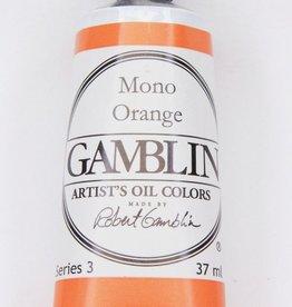 Domestic Gamblin Oil Paint, Mono Orange, Series 3, Tube 37ml<br /> List Price: 17.95