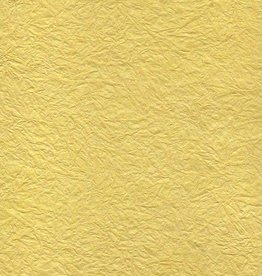 "India Hindumomi Crinkle Metallic Yellow, 22"" x 30""  200 gsm"