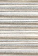 """India Glitter Stripes, White, Gold on Natural, 22"""" x 30"""""""