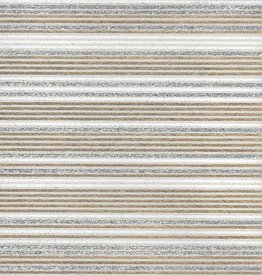 "India Glitter Stripes, White, Gold on Natural, 22"" x 30"""