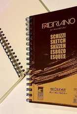 "Italy Schizzi Sketch Pad, 5.83""x 8.25"", 60 Sheets, 90gm Fabriano Paper, Spiral Bound-Micro Perforated"