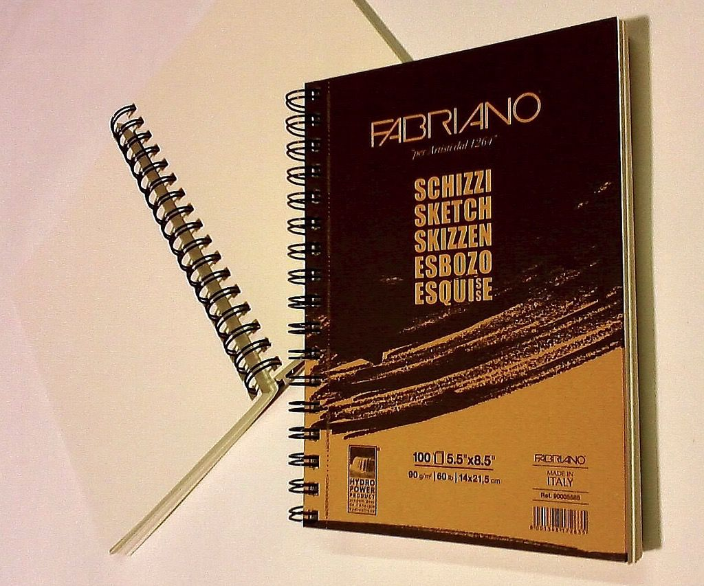 "Italy Schizzi Sketch Pad, 8.25""x 11.75"", 120 Sheets, 90gsm Fabriano Paper, Spiral Bound-Micro Perforated"