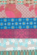 """India Indian Decorative Paper Pack, 11"""" x 11"""" 20 Sheets, Each sheet is a different and unique Indian Design Paper (paper will vary per pack)"""