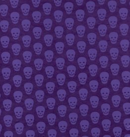 "Nepal Lokta Skulls, Purple on Purple, 20"" x 30"""