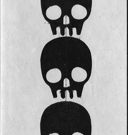 "Nepal Skull Journal, 5"" x 8"", 30 blank white pages"