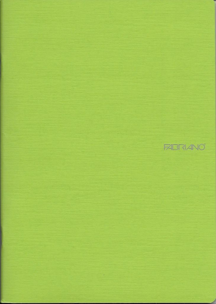 """Italy EcoQua Blank Notebook, Lime, 5.75""""x 8.25"""" 40 Sheets"""