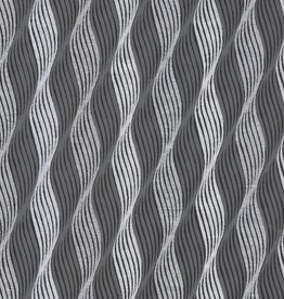 """India Indian Waves, Silver and Grey on Black, 22"""" x 30"""" Limited Available"""