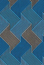 """India Circuit Grid Boxes, Blue, Gold on Navy 22"""" x 30"""""""