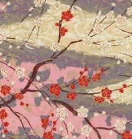 "Yuzen 4443, Cherry Blossoms, 19"" x 25"""