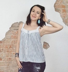 Indigo Striped Tank