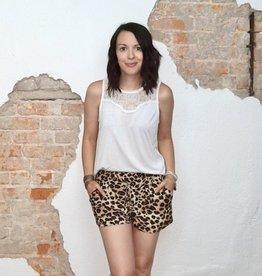 Leopard Paper Bag Shorts