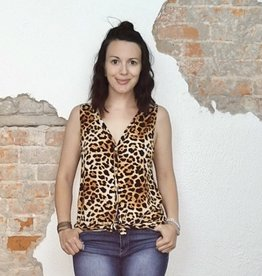 Leopard Button Down
