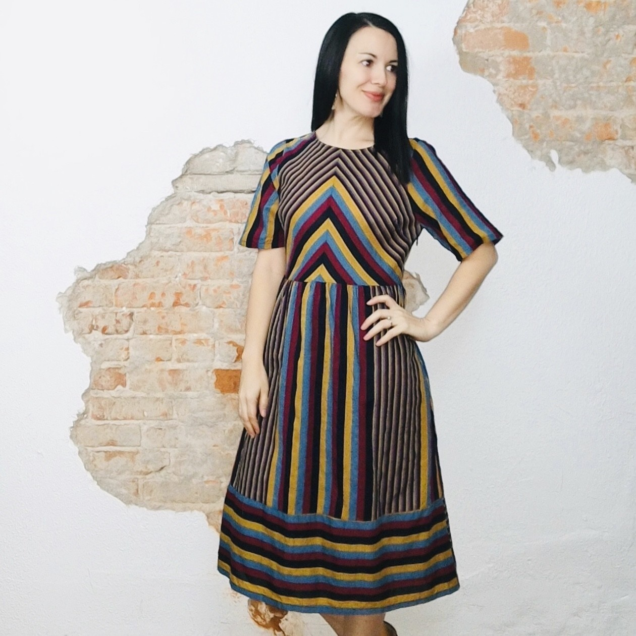 The Colorful Striped Dress
