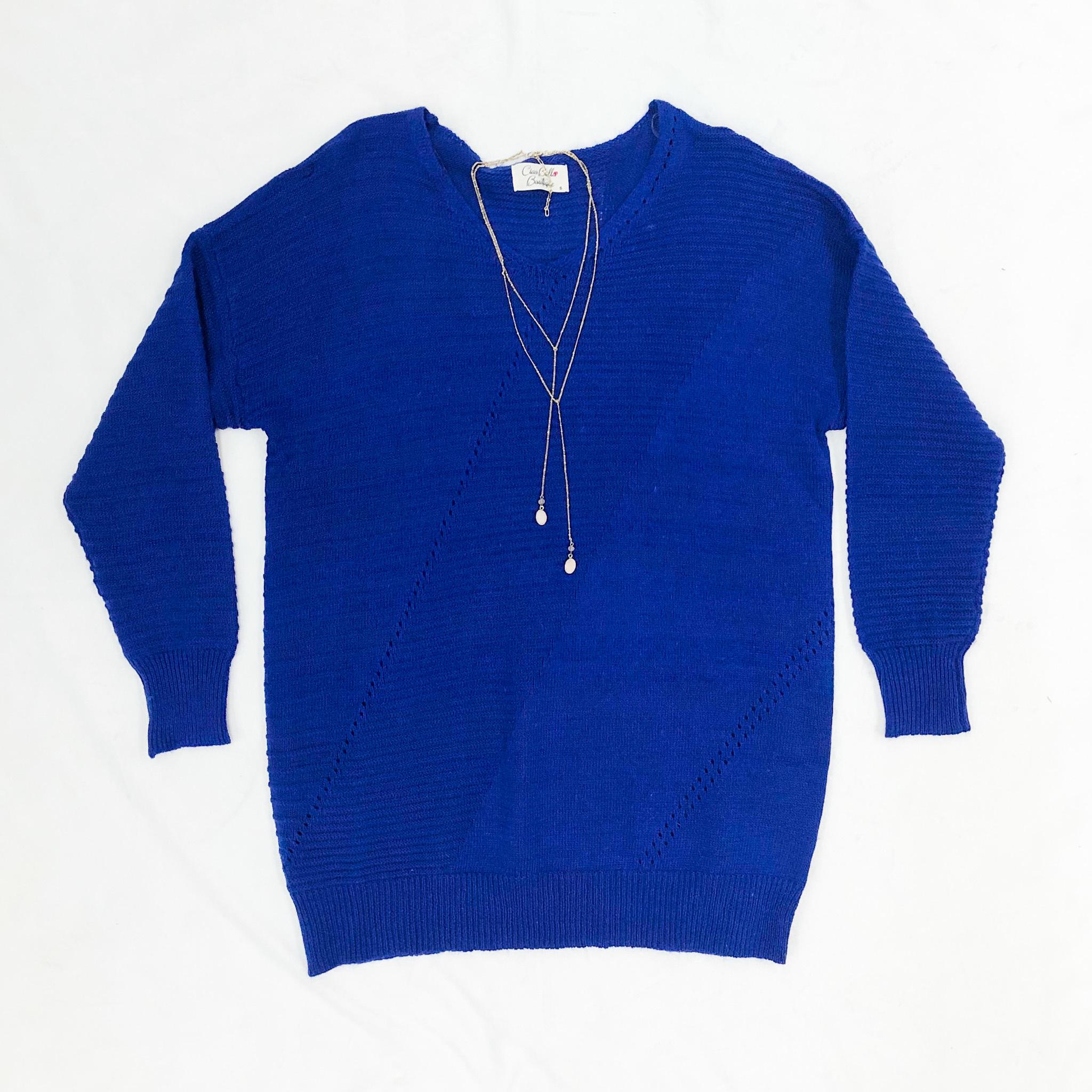 Cobalt Tunic Sweater