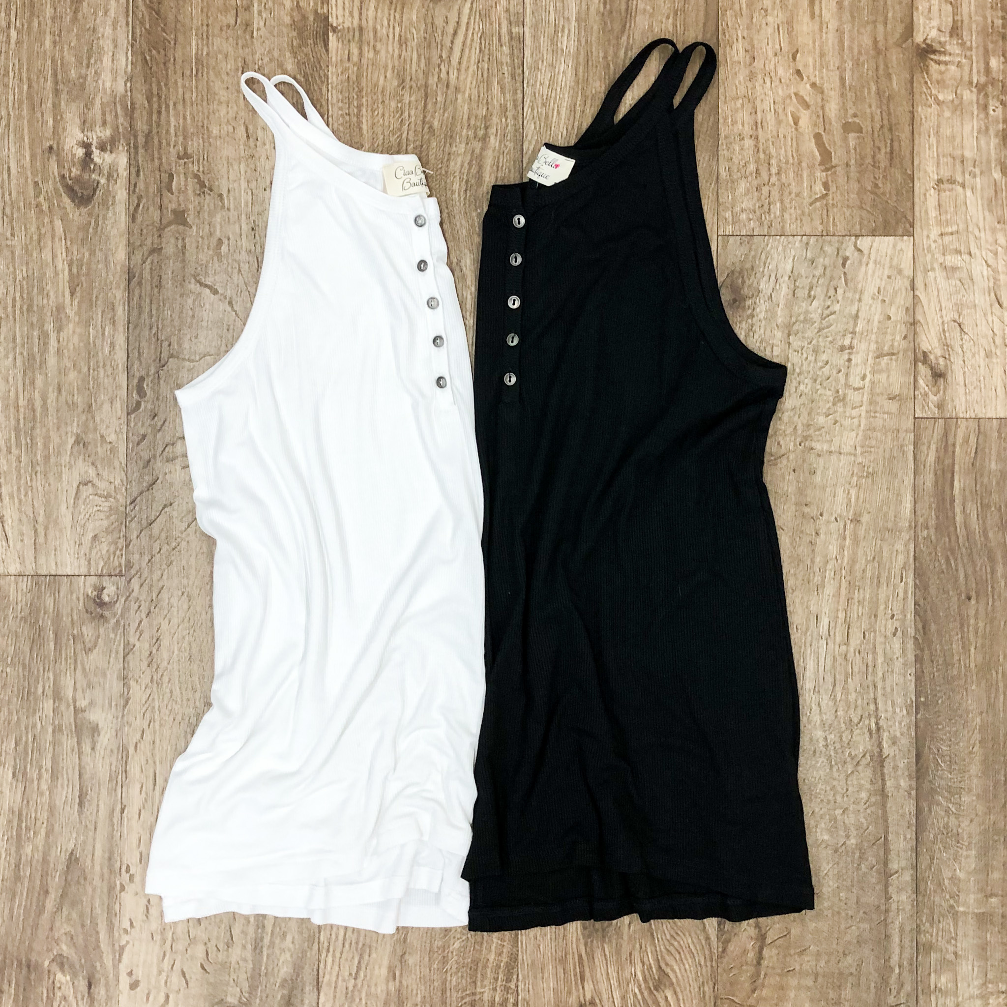 Ribbed Button Down Tank