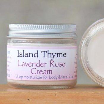Island Thyme Lavendar Rose Cream 4oz