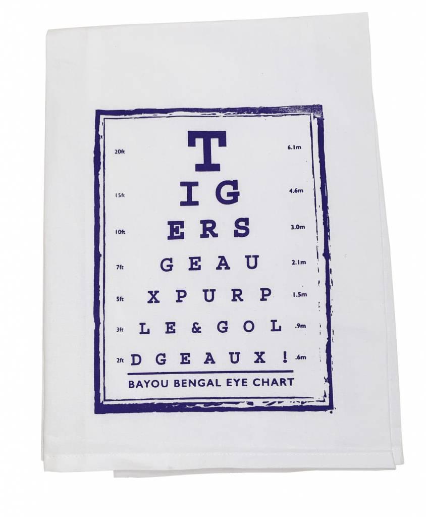 Tiger Eye Chart Tea Towel