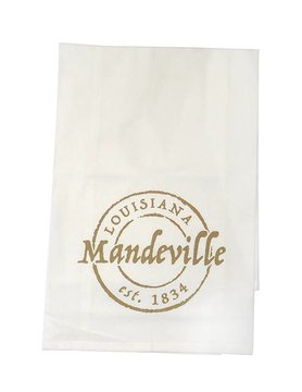 Mandeville Stamp Tea Towel