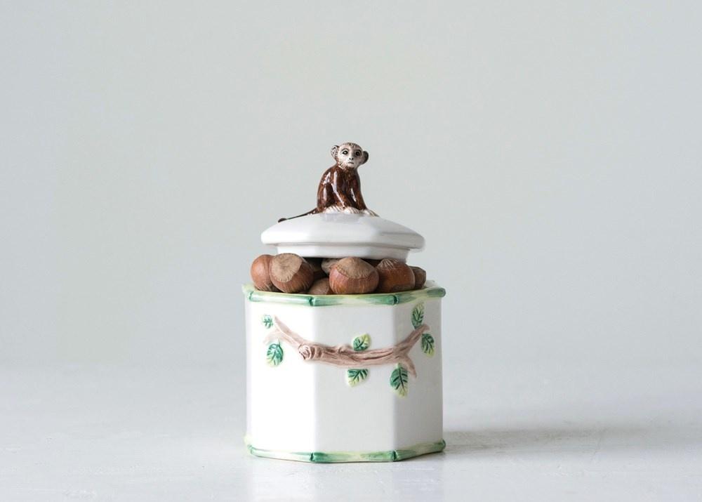 Monkey on Lid Candy Jar