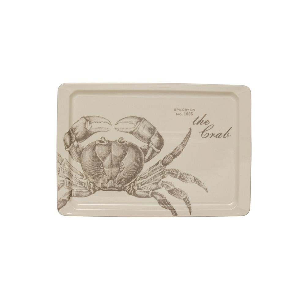"Crab Platter Rect. 10.25"""