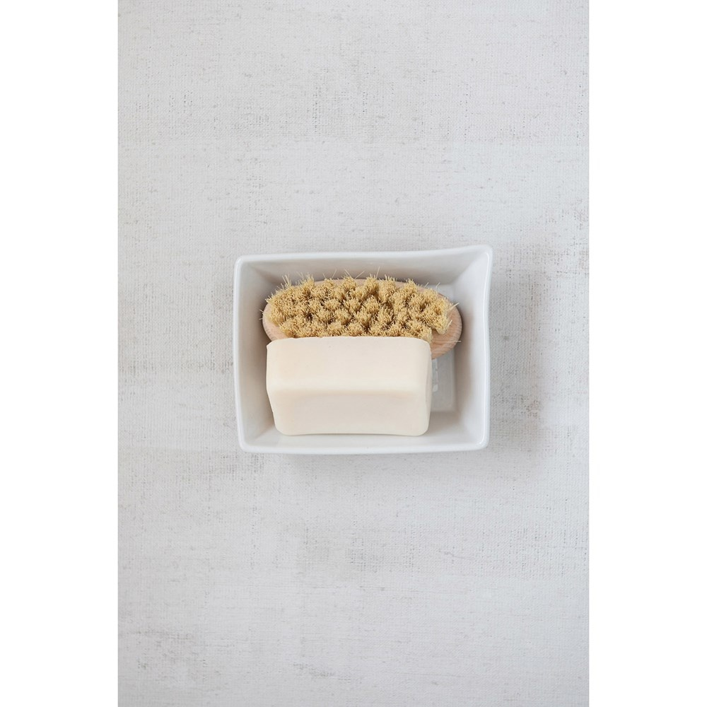 Stoneware Soap Dish White