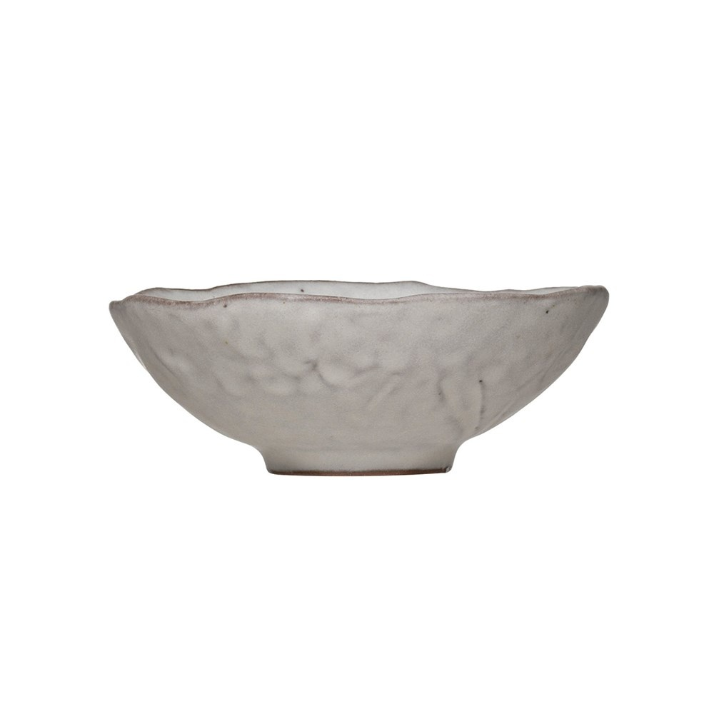 Stoneware Serving Bowl Matte Light Grey