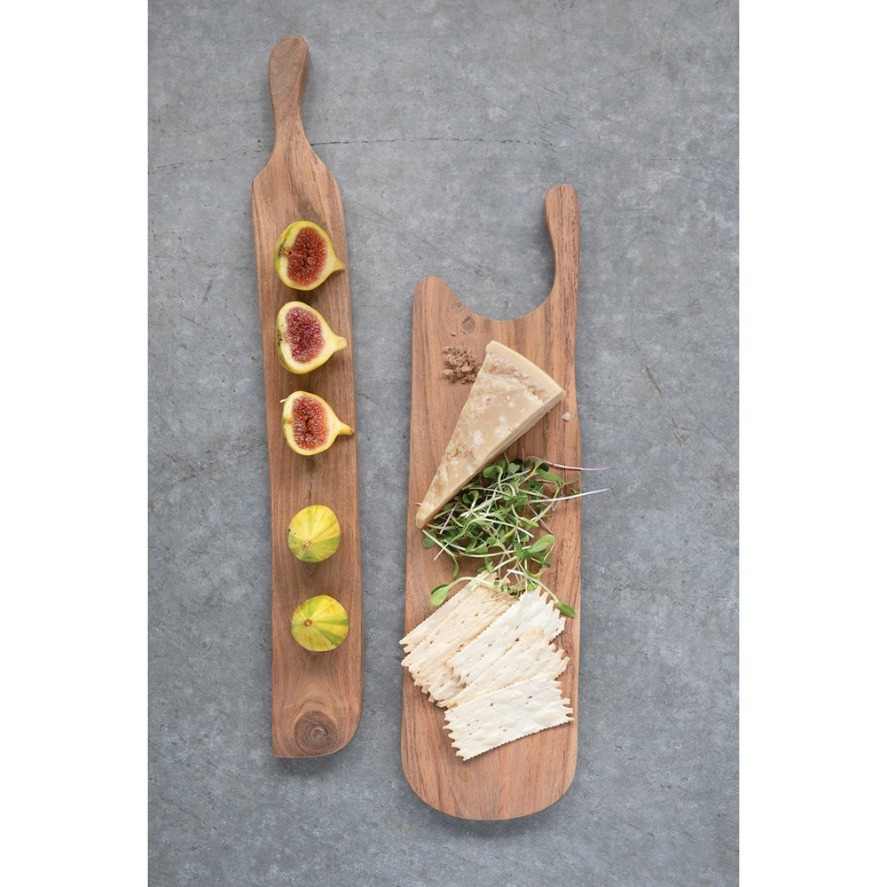 "Acacia Wood Serving Board 19.75"" x 2.5"""