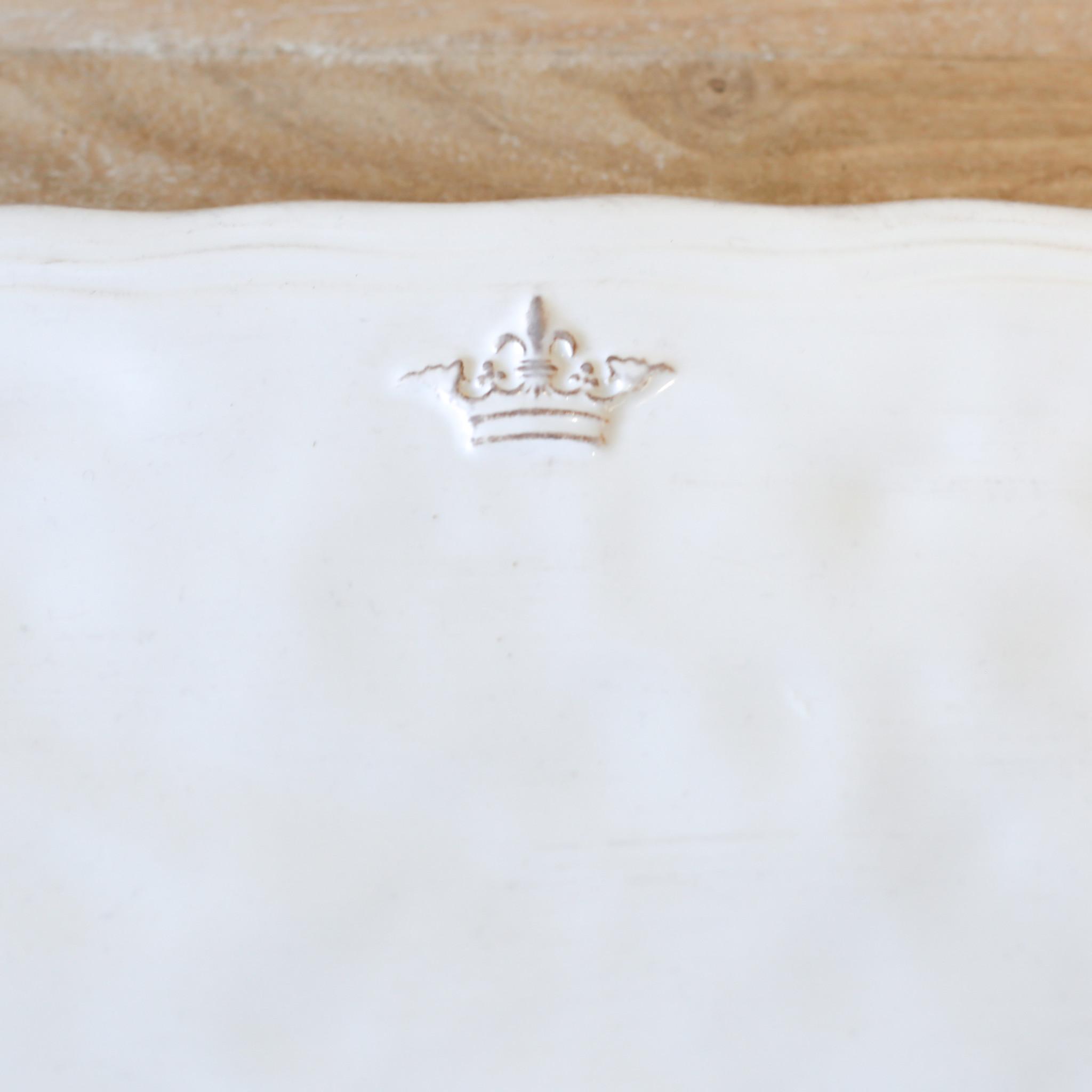 Crown Platter WHT 11.5x8.5