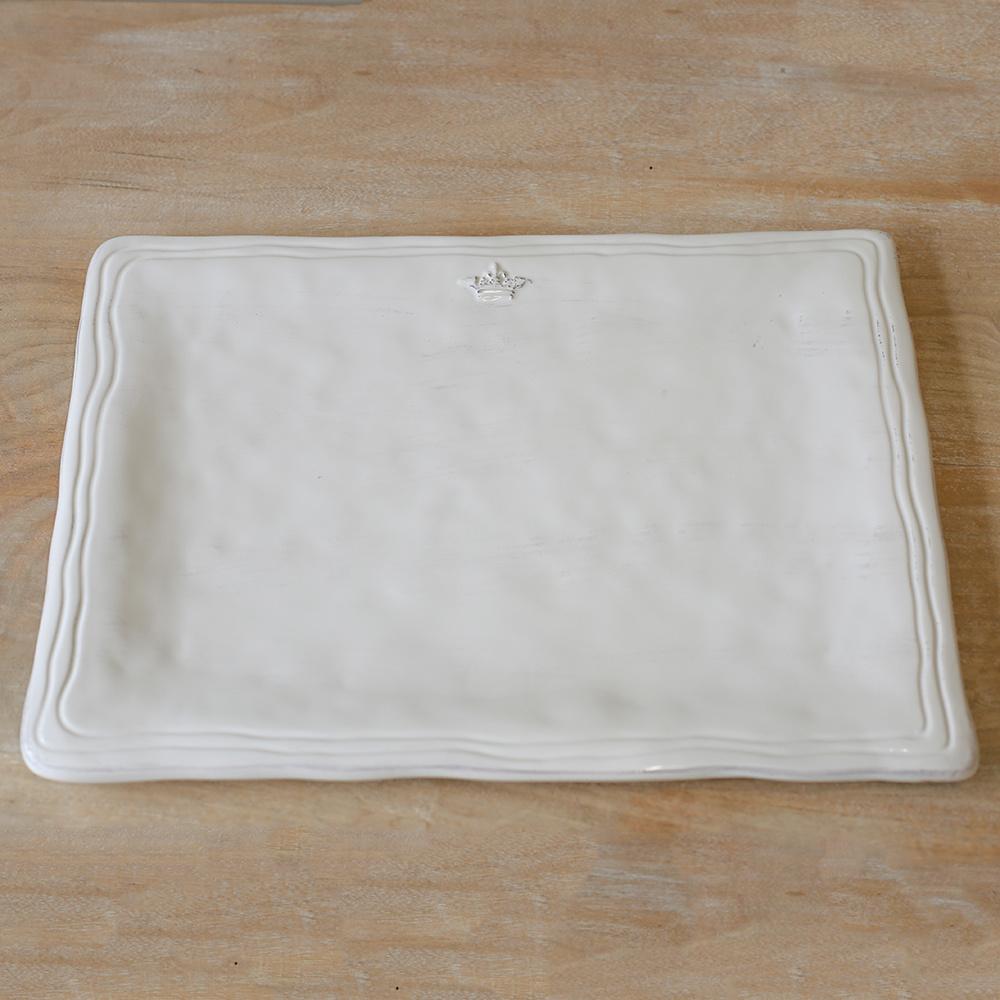 Crown Platter WHT 15.5x11.5