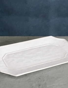 VIDA Charleston Long Rec Platter - White