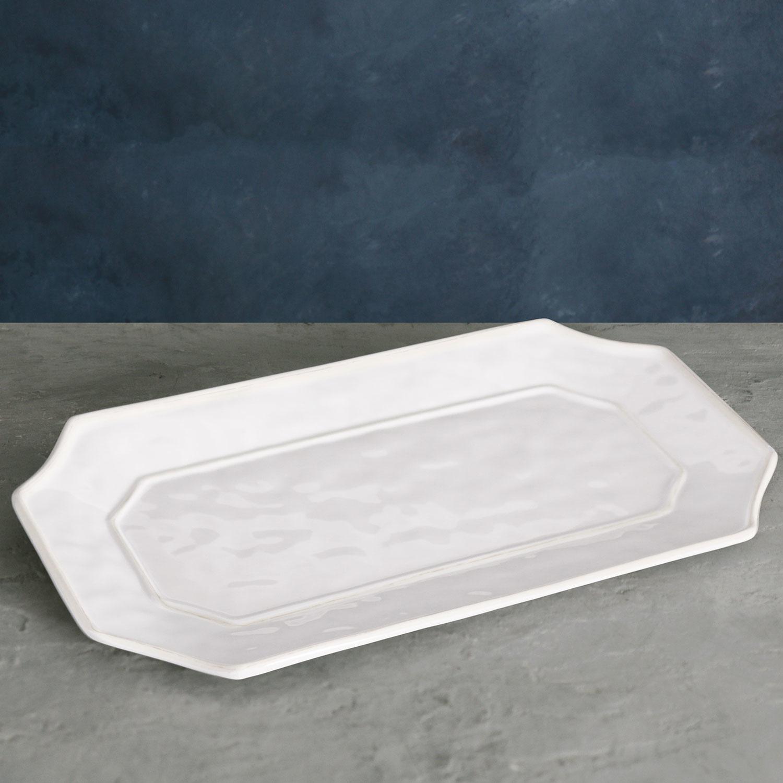 VIDA Charleston Long Rec Platter - White