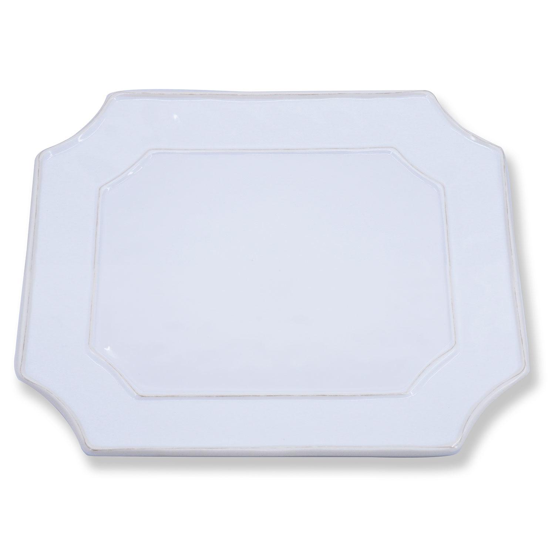VIDA Charleston Rec Platter - White