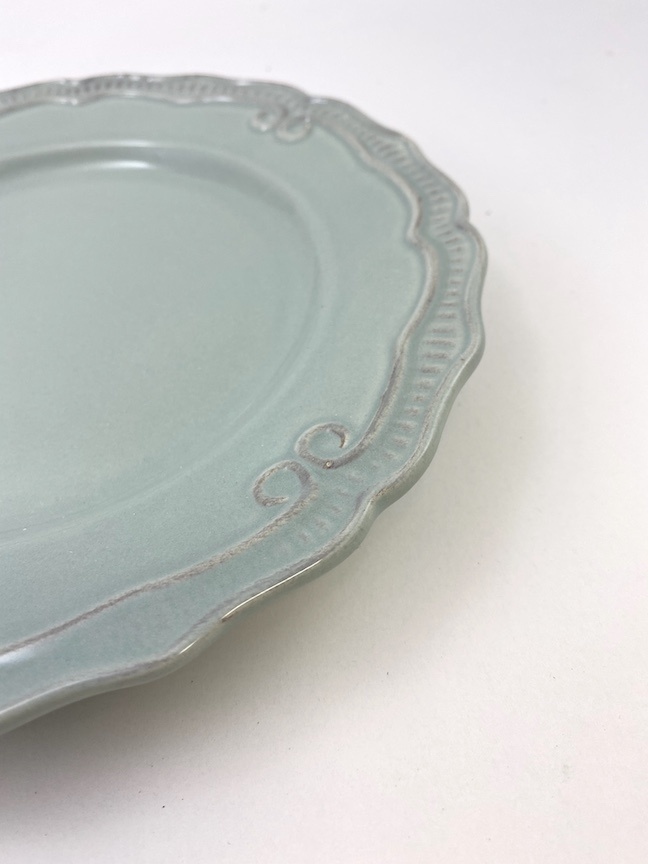 "8"" Light Blue Salad Plate"