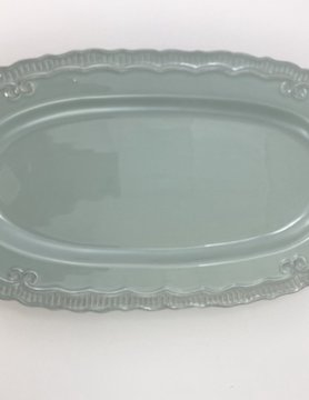 16x8.75 Light Blue Serving Tray-OVAL